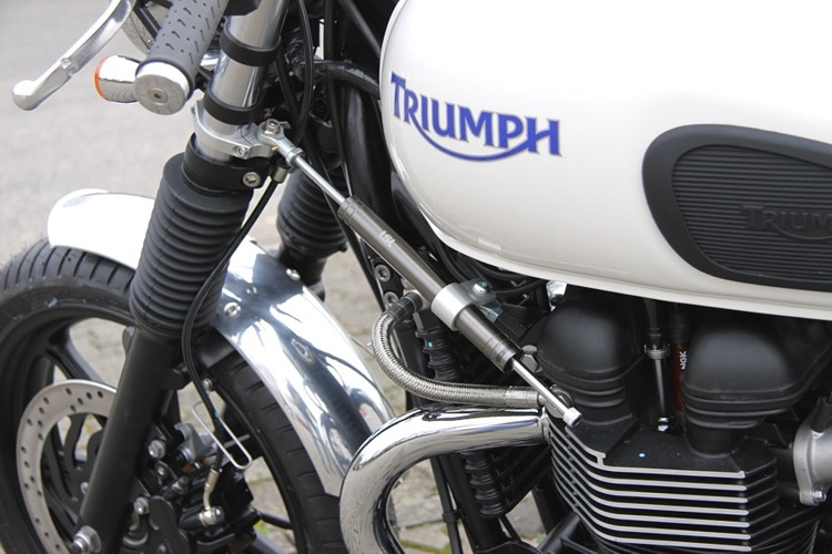 Stuurdemperkit Thruxton/Bonneville, mounting left