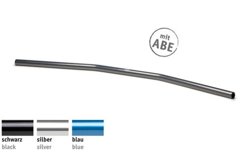 Drag Bar Wide Silver