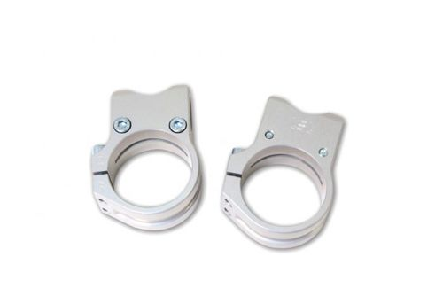 Fork Clamps Sport Match Silver 35mm
