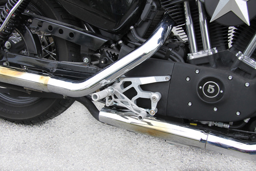 LSL Rearset Harley Davidson Forty Eight 1) 2) 4) 10-